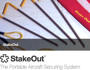 StakeOut - the portable aircraft securing system
